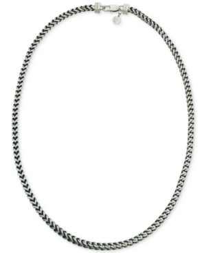 Link Necklace in Stainless Steel and Black Ion-Plate