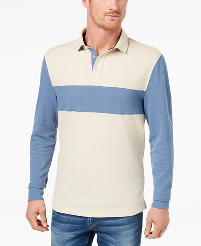 Club Room Men's Contrast Stripe Polo, Created for Macy's