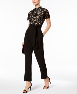 Jessica Howard Lace Jumpsuit, Regular & Petite Sizes 5460195