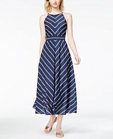 Maison Jules Kimberly Striped Midi Dress, Created for Macy's
