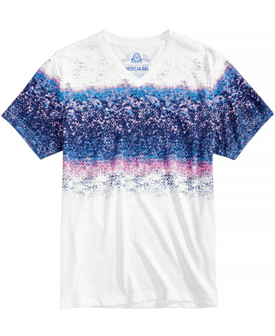 American Rag Men's Faded Stripe T-Shirt, Created for Macy's