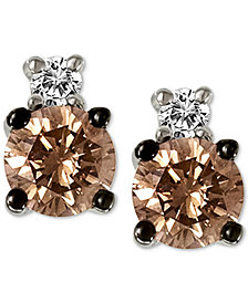 Le Vian Chocolatier® Diamond Stud Earrings (1/3 ct. t.w.) in 14k White Gold