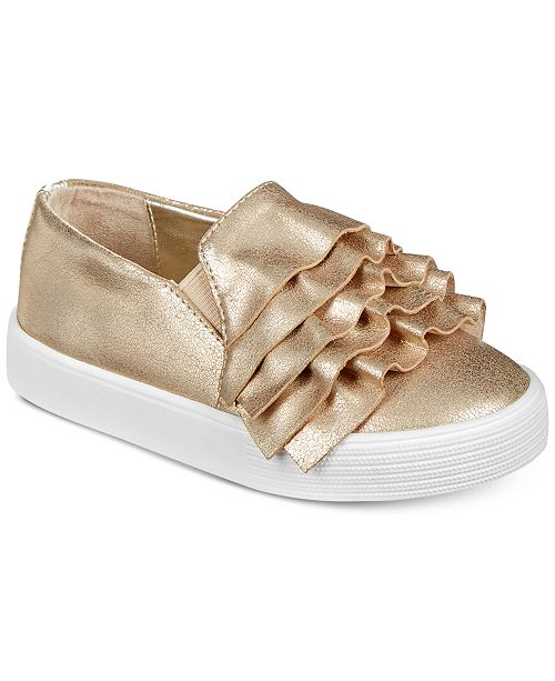 Kenneth Cole Kam Ruffle-T Slip-On Shoes, Toddler Girls