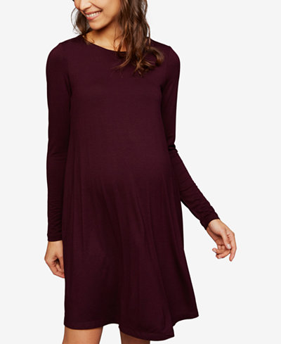 A Pea In The Pod Maternity Long-Sleeve A-Line Dress