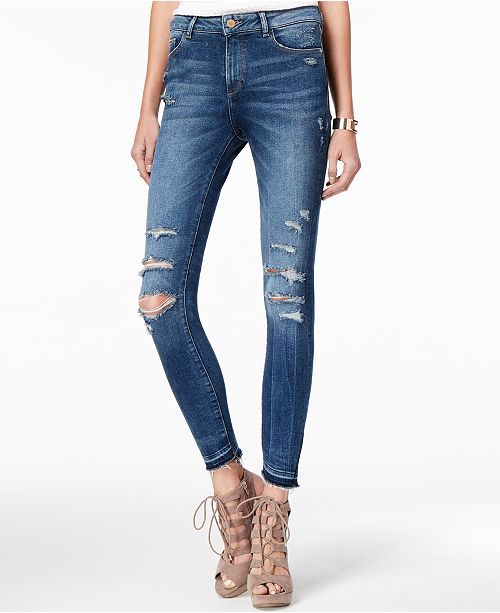 DL 1961 DL1961 Farrow High Rise Skinny Ripped Jeans