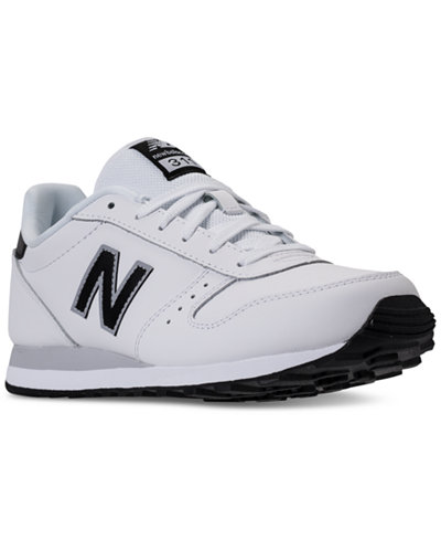 new balance men's 311 leather casual sneakers from finish