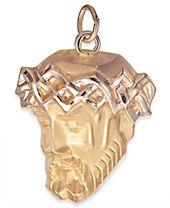 Christ Head Pendant in 14k Gold