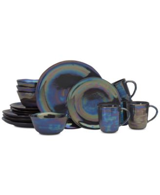 Coronado Graphite 16-Piece Dinnerware Set, Service for 4