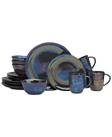 Mikasa Coronado Graphite 16-Piece Dinnerware Set, Service for 4