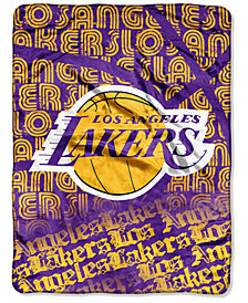 Northwest Company Los Angeles Lakers Micro Raschel 46 x 60 Redux Blanket