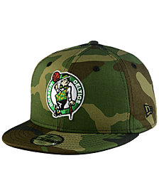 New Era Boys' Boston Celtics Woodland Team 9FIFTY Snapback Cap