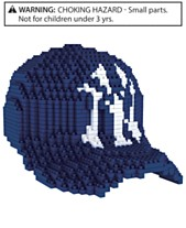 4be231235 Forever Collectibles New York Yankees BRXLZ 3D Baseball Cap Puzzle