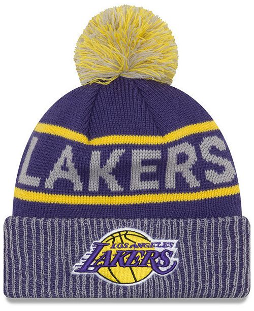 fecc0cd57a6 New Era Los Angeles Lakers Court Force Pom Knit Hat   Reviews ...