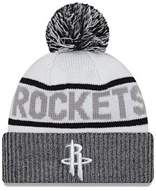 New Era Houston Rockets Court Force Pom Knit Hat