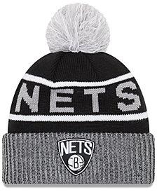 New Era Brooklyn Nets Court Force Pom Knit Hat