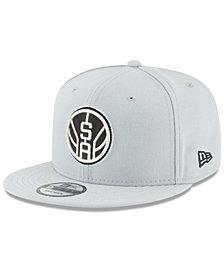New Era San Antonio Spurs Team Metallic 9FIFTY Snapback Cap