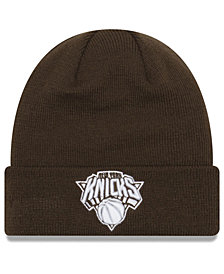 New Era New York Knicks Fall Time Cuff Knit Hat