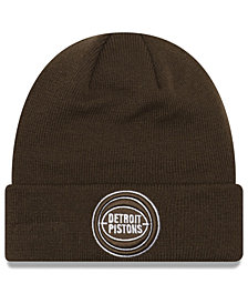 New Era Detroit Pistons Fall Time Cuff Knit Hat