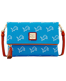 Dooney & Bourke Detroit Lions Foldover Crossbody Purse