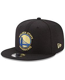 New Era Golden State Warriors Team Metallic 9FIFTY Snapback Cap