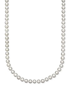 """Pearl Necklace, 18"""" 14k Gold A Cultured Freshwater Pearl Strand (7-1/2-8mm)"""