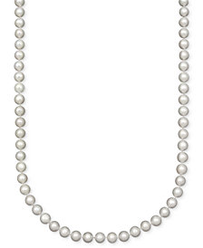 "Belle de Mer Pearl Necklace, 18"" 14k Gold A Cultured Freshwater Pearl Strand (7-1/2-8mm)"