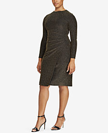 Lauren Ralph Lauren Plus Size Metallic Knit Dress