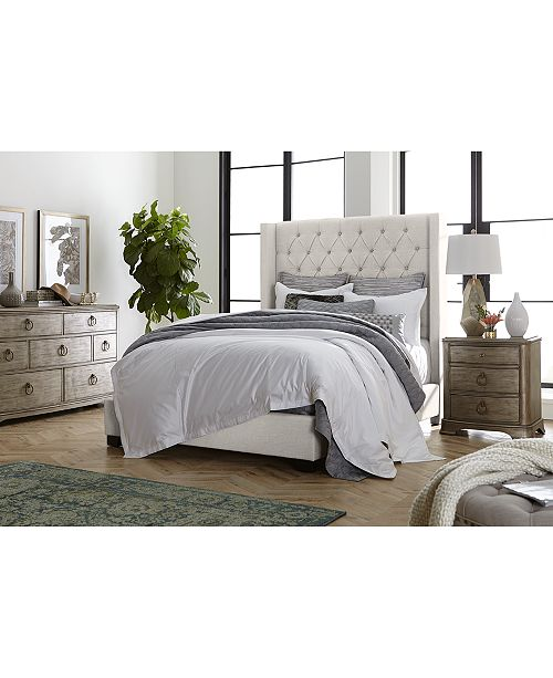 Monroe Upholstered Bedroom Furniture, 3-Pc. Set (California King Bed,  Nightstand, & Chest), Created for Macy\'s