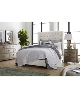 Furniture Monroe Upholstered Bedroom Furniture, 3 Pc. Set (California King  Bed, Nightstand, U0026 Chest)   Furniture   Macyu0027s