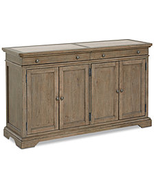CLOSEOUT! Martha Stewart Bergen Credenza Stone Top, Created for Macy's