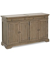 Martha Stewart Bergen Credenza Stone Top Created For Macys