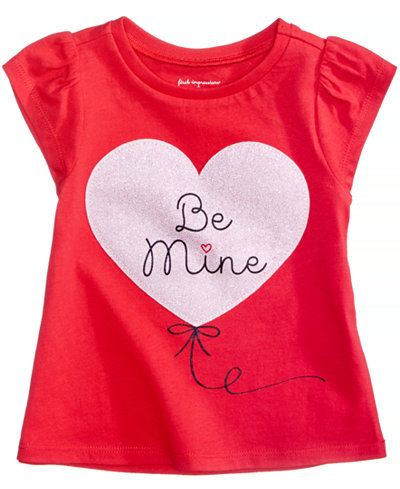 First Impressions Be Mine Cotton T-Shirt, Baby Girls, Created for Macy's