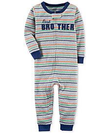 Carter's Brother Stripe-Print Cotton Pajamas, Baby Boys