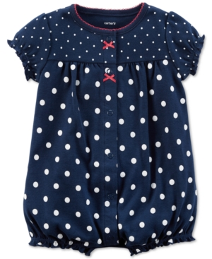 Carters DotPrint Strawberry Cotton Romper Baby Girls (024 months)