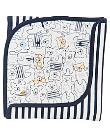 Baby Boys Cotton Bear-Print Blanket, Created for Macy's