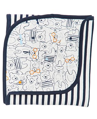First Impressions Baby Boys Cotton Bear Print Blanket Created For
