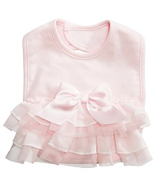 First Impressions Baby Girls Ruffle Bib, Created for Macy's