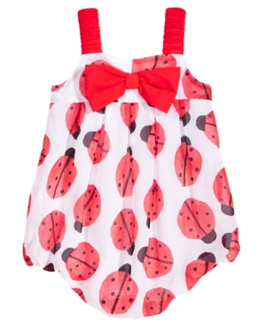 First Impressions LadybugPrint Bubble Romper Baby Girls Created for Macys