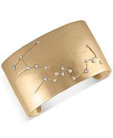 RACHEL Rachel Roy Gold-Tone Pavé Constellation Cuff Bracelet