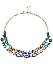 Carolee Gold-Tone Multi-Stone Collar Necklace