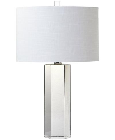 Decorator's Lighting Hexagonal Crystal Table Lamp