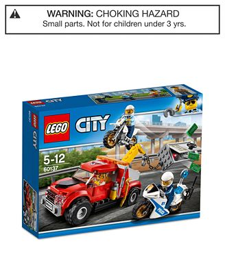 LEGO® City 144-Pc. Police Tow Truck Trouble - Toys & Games - Kids ...
