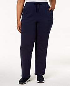 Karen Scott Plus Size Knit Pull-On Pants, Created for Macy's