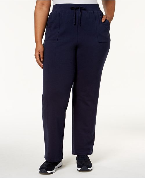 c0658d15896ad Karen Scott Plus Size Knit Pull-On Pants