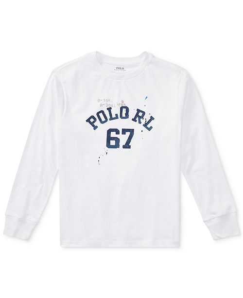 11e4490f6 Polo Ralph Lauren Ralph Lauren Graphic Cotton Long-Sleeve T-Shirt, Big Boys