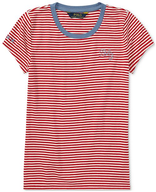 b33f4d0a ... discount code for ralph lauren embroidered striped t shirt big girls. 1  reviews. main