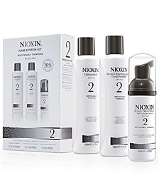 Nioxin 3-Pc. System 2 Set, from PUREBEAUTY Salon & Spa