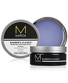 Mitch Barber's Classic Moderate Hold/High Shine Pomade, 3-oz., from PUREBEAUTY Salon & Spa