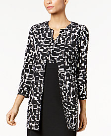 Kasper Printed Topper Jacket, Regular and Petite