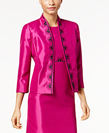 Kasper Embroidered Shimmer Blazer